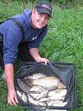 Adam Smith with his winning weight of 26lb 11oz from peg 18
